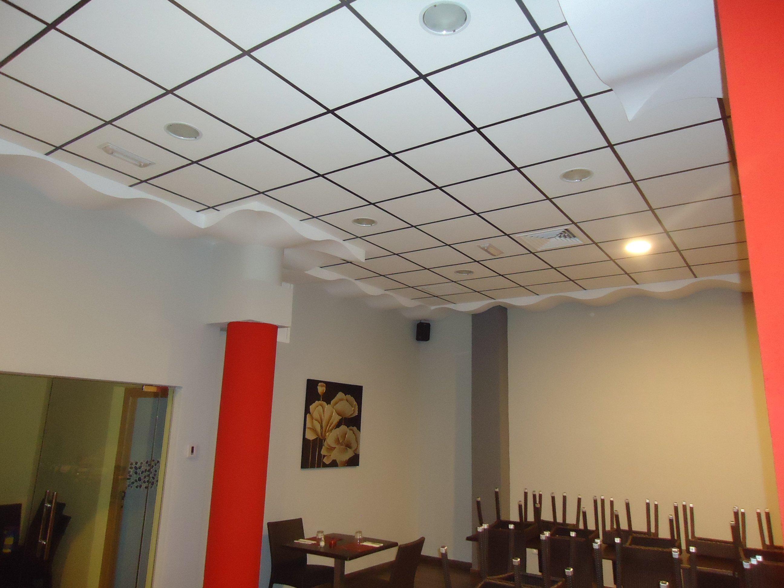 Falsos techos prefinsa for Techo desmontable escayola